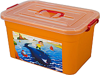 Ящик для хранения Полимербыт Радуга 81101 (15л, оранжевый) -
