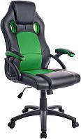 Кресло геймерское Mio Tesoro Дино X-2706 (черный/зеленый) -