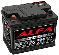 Автомобильный аккумулятор ALFA battery Hybrid L / AL 55.1 (55 А/ч) -