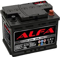 Автомобильный аккумулятор ALFA battery Hybrid R / AL 55.0 (55 А/ч) -