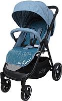 Детская прогулочная коляска INDIGO Assana (синий) -