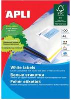 Наклейки для печати APLI 10197 (белый) -