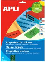 Наклейки для печати APLI 1602 (зеленый) -