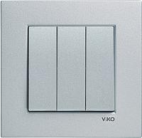 Выключатель Viko Novella 92105068 (серебристый) -