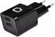Зарядное устройство сетевое Qumo Energy + Micro USB Cable / 20781 (черный) -