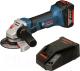 Профессиональная угловая шлифмашина Bosch GWS 18 V-LI (0.615.990.L6G) -