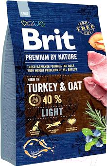 Корм для собак Brit Premium by Nature Light / 526581 (3кг)