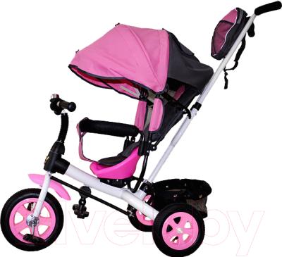 Детский велосипед с ручкой GalaXy Виват 1 (розовый)