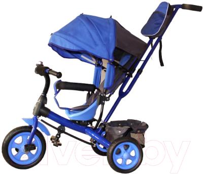 Детский велосипед с ручкой GalaXy Виват 2 (синий)