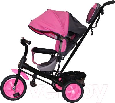 Детский велосипед с ручкой GalaXy Виват 2 (розовый)