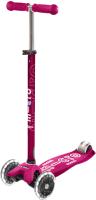 Самокат Micro Maxi Deluxe LED / MMD077 (розовый) -