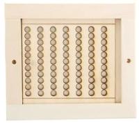Решетка вентиляционная для бани Моя баня Малая с задвижкой РВЗ-М -