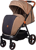 Детская прогулочная коляска Acarento Bellezza / AS130 (бежевый/серый) -