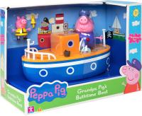 Игрушка для ванной Peppa Pig Корабль дедушки Пеппы / 37224 -