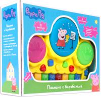 Музыкальная игрушка Peppa Pig Музыкальное пианино с барабанами / 30965 -