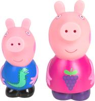 Набор игрушек для ванной Peppa Pig Пеппа и Джордж / 37467 -