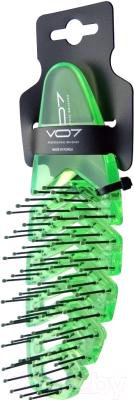 Расческа VO7 Зеленая волна прозрачная