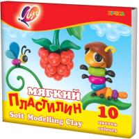 Пластилин восковой ЛУЧ Кроха / 12С 875-08 (10цв) -