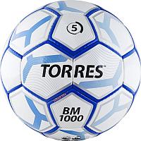 Футбольный мяч Torres BM 1000 F30625 (размер 5,белый/серебристый/синий) -