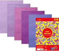 Набор фетра deVente Оттенки фиолетового А4 / 8040688 (5цв) -