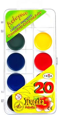 Акварельные краски ГАММА Пчелка / 212033 (20цв )