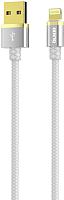 Кабель Olmio Deluxe USB 2.0 - Lightning 2.1A / 038849 (1м, белый) -