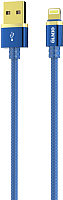 Кабель Olmio Deluxe USB 2.0 - lightning  2.1A / 038851 (1м, синий) -