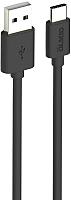 Кабель Olmio USB 2.0 - USB type-C / 038773 (1м, черный) -