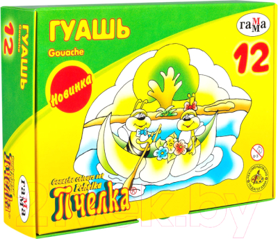 Гуашь ГАММА Пчелка / 221014-12 (12цв)