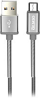 Кабель Olmio Hd USB 2.0 - microUSB 2.1A / 038646 (1.2м, серый) -