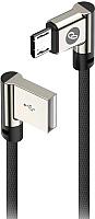 Кабель Olmio USB 2.0 - microUSB / 038867 (1м, угловой) -