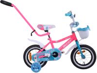 Детский велосипед с ручкой AIST Wiki 12 2020 (розовый) -
