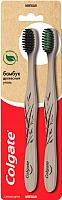 Набор зубных щеток Colgate Бамбук древесный уголь (1+1) -