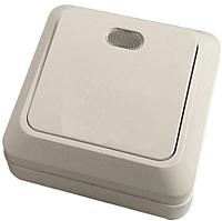 Выключатель КС Дабрабыт ОП 10А с индикатором / 74881 (белый) -