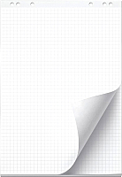 Бумага для флипчарта deVente 20л в клетку / 6040400 (белый) -
