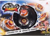 Игровой набор Infinity Nado Два волчка Сплит Fox & Sword / 36062 -