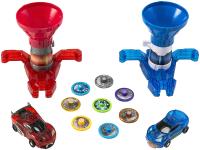 Игрушка-трансформер Screechers Два бластера для дисков и две машинки / 37901 -