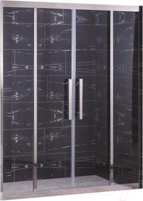 Душевая дверь Coliseum 2002-140 (прозрачное стекло)