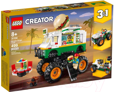 Конструктор Lego Creator Грузовик Монстрбургер / 31104 конструктор lego creator 40460 розы