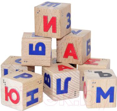Развивающий игровой набор Краснокамская игрушка Кубики со шрифтом Брайля. Алфавит / Куб-16