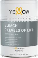 Порошок для осветления волос Yellow Bleach 9 тонов (500г) -