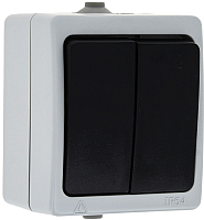 Выключатель КС Дабрабыт ОП 10А IP54 / 74842 (серый) -