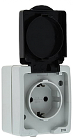 Розетка КС 1 ОП 16А IP54 / 74843 (серый) -