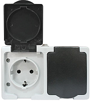 Розетка КС 2 ОП 16А IP54 / 74846 (серый) -