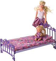Аксессуар для кукольного домика Огонек Кроватка с постельным бельем / С-1425 -