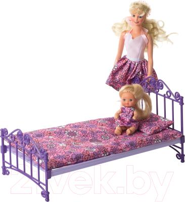 Аксессуар для кукольного домика Огонек Кроватка с постельным бельем / С-1425