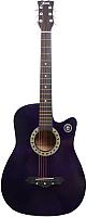Акустическая гитара Jervis JG-38C/VTS (фиолетовый) -