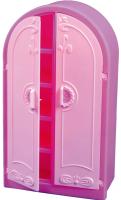Аксессуар для кукольного домика Огонек Шкаф для кукол / С-1429 (розовый) -