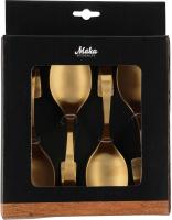 Набор дегустационных ложек Maku Kitchen Life Срampagne Gold 322001 (4шт) -
