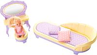 Комплект аксессуаров для кукольного домика Огонек Будуар. Маленькая принцесса / С-1459 (лимонный) -